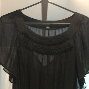 Banana Republic Dresses - Black shift dress with slip and tie waste, XL